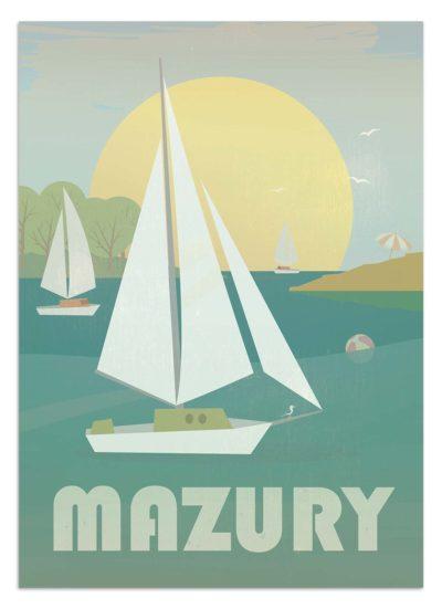 Mazury - widok na jezioro