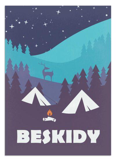 Biwak w Beskidach pod rozgwieżdzonym niebem