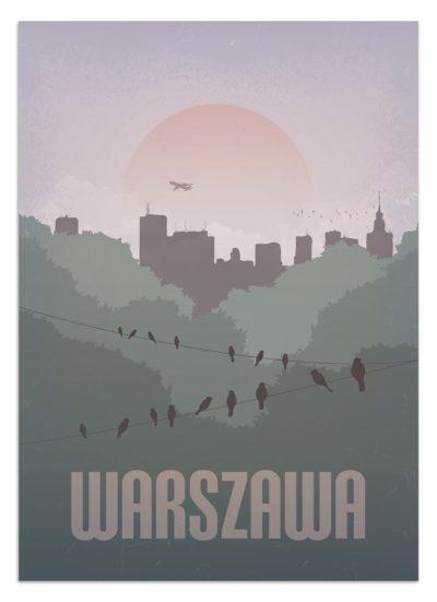 Plakat vintage Warszawa