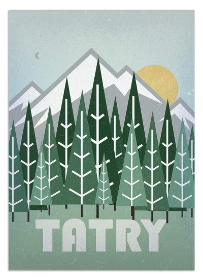 Plakat minimalistyczny Tatry