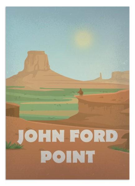 Plakat serialowy - dziki zachód