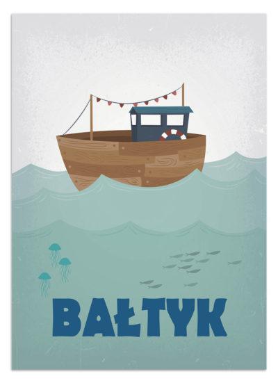 Morze Bałtyckie na plakacie