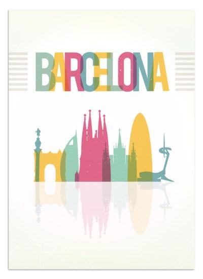 plakaty podróżnicze - Barcelona