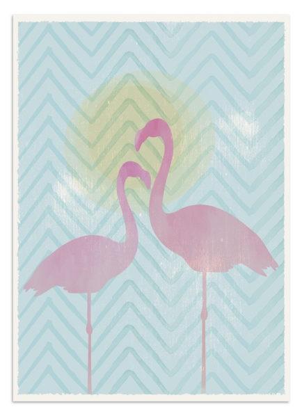Flamingi - plakat