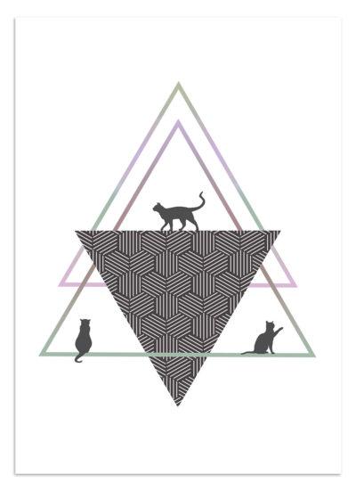 plakat minimalistyczny dla kociarzy