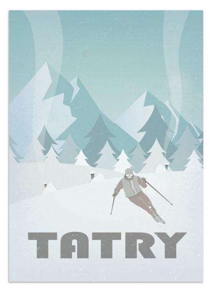 plakat podróczniczy - tatry - zima