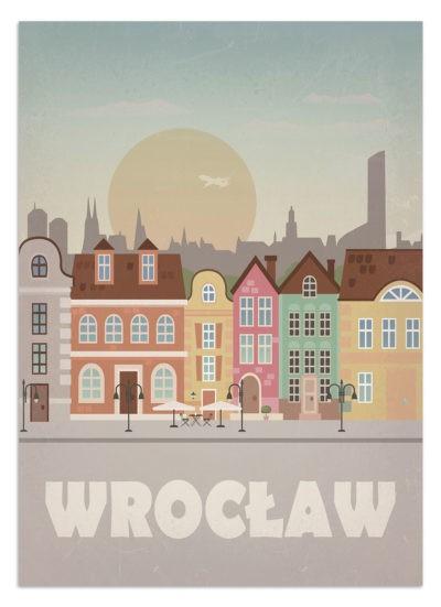 Plakat do wnętrz - Wrocław - Stare Miasto