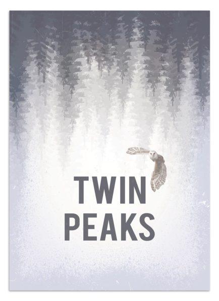 Twin Peaks - grafika wektorowa - plakat
