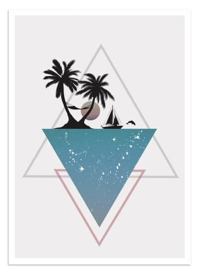 Plakat Geometryczny Hunny Badger