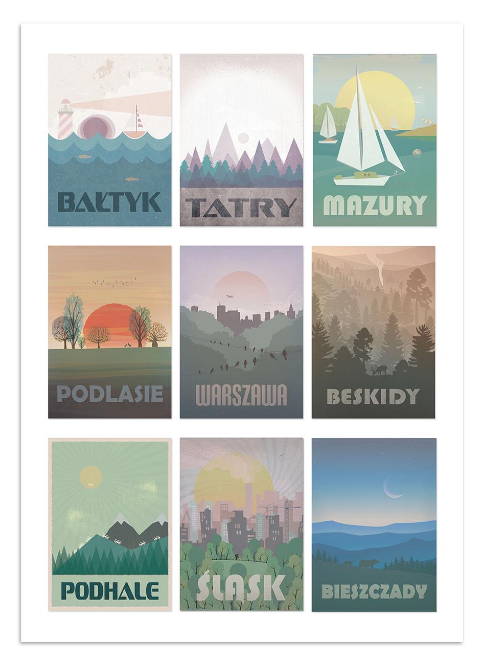 Plakaty Turystyczne Regiony Polski