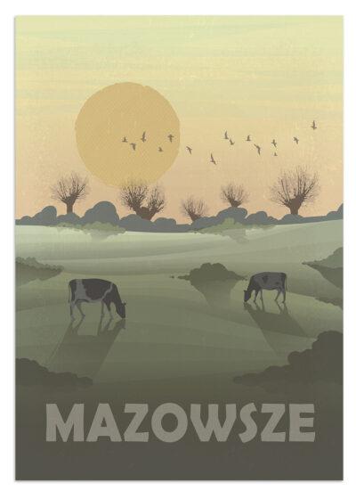 Mazowsze - plakat podróżniczy