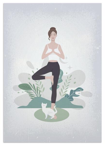 joga z kotem